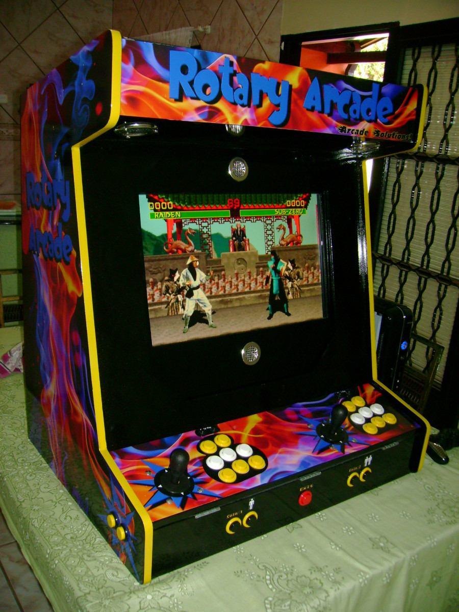 f5de39d0e mini maquina de fliperama rotary arcade - Retro Games